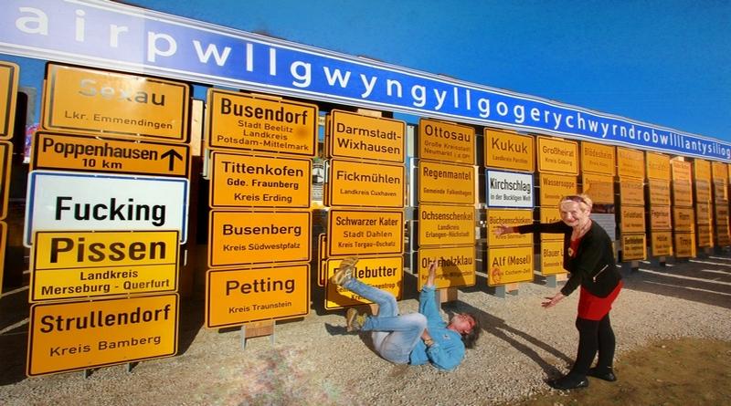 Lustige Ortsnamen – alle auf einen Blick – mit historischem Hintergrund