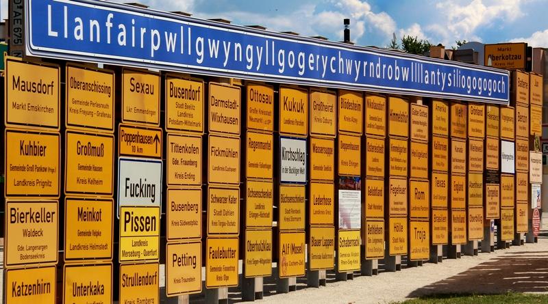 Lustige Ortsnamen +++ alle auf einen Blick +++ mit historischem Hintergrund +++ längster Ortsname Europas – 18 Meter lang +++ einmalige Sammlung in Deutschland