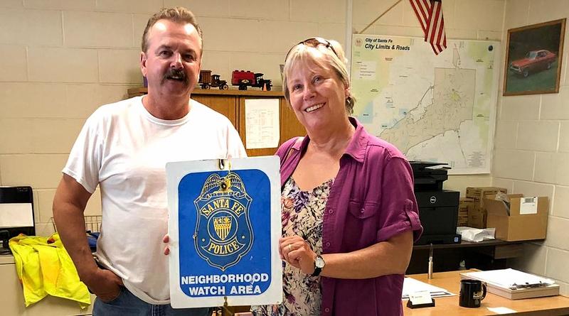 """SANTA FE POLICE – ein """"authentic"""" Sign aus Santa Fe / New Mexico"""