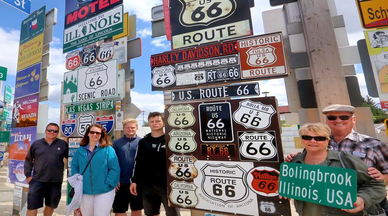 Bolingbrook, Illinois, USA: Chicago, dort wie die ROUTE 66 beginnt