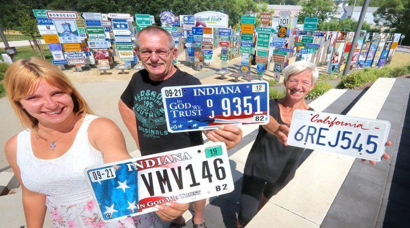 USA Lisense Plates aus Indiana und California